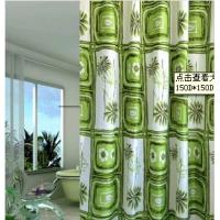 Custom Polyester Floral bathroom Window Shower Curtain , Waterproof Materials Manufactures