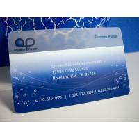 China Frosted Matte Surface Transparent Clear PVC Card Business Card on sale