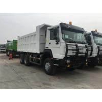 Buy cheap 40t SINOTRUK HOWO white heavy dump truck with 336hp euro ii emission standard all wheel drive from wholesalers