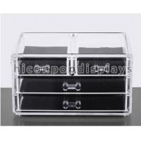 Clear Acrylic Display Cases / Large Acrylic Cosmetic Organizer Countertop Manufactures