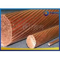 China Grounding Wire Solid / Stranded Bare Copper Conductor Hard Drawn For Overhead Traction System on sale