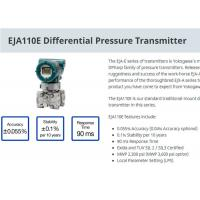 Industrial EJA110E Differential Pressure Transmitter For Level Measurement Manufactures