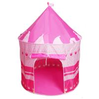 China Wholesale pink princess castle baby play house tent with good material ,kids play tent house,outdoor, on sale