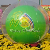 Reusable Versatile Digital Printing Green Inflatable Helium Ballon, Inflate Ground Balloon Manufactures
