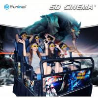 80 Pcs Movies 5D Theater Equipment Synchronous Seat Vibrating 420kg Platform Weight Manufactures