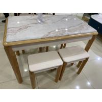 Acid Resistant Solid Wood Dinette Luxury Style Granite Table Top Manufactures