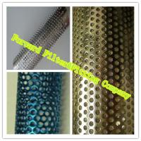 Colorful Decorative Perforated Metal Tube With Straight Weld / Round Shape Manufactures