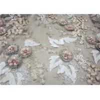 Beautiful Bead Lace Overlay Fabric Furniture Upholstery Fabric Manufactures