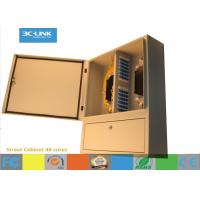 Cold Rolled Steel Outdoor Fiber Cabinet 48 Cores Fixing Device Street Cabinet Manufactures