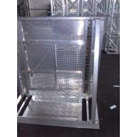 Quality Strong Crowd Safety Barriers Silver Color Rapid Assembly For Concert Show for sale
