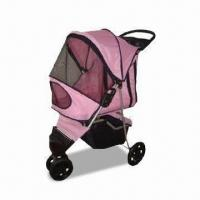 Pet stroller with 3-wheels, Measures 75x45x97cm Manufactures