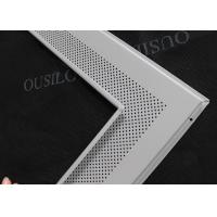 Quality Aluminum Perforated Ф1.8 Suspended Lay In Ceiling Tiles White 600 x 600mm for sale