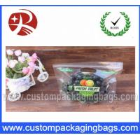 Buy cheap High Transparency Punch Ziplock With Vent , Fruit Grape Packaging Bags from wholesalers