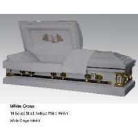Quality White Cross Casket for sale