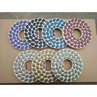 230mm Wool Felt Diamond Polishing Wheels For Concrete Floors , Carton Package Manufactures