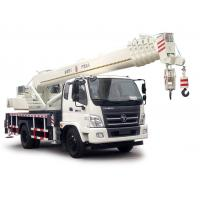 Quality FOTON Lifting Material Truck Mounted Crane 10-16 Ton , Full Hydraulic Truck Crane for sale