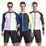 2017 newly design mens long sleeve rash guard swim suit diving suit with shorts pants wholesale Manufactures