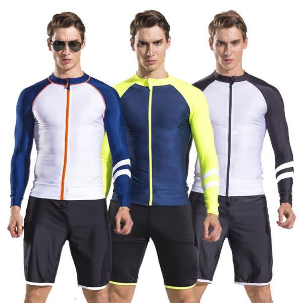Quality 2017 newly design mens long sleeve rash guard swim suit diving suit with shorts pants wholesale for sale