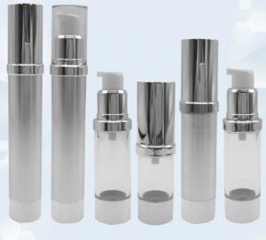 Gold Frosted Airless Pump Bottle / Airless Dispenser Bottles 15ml 100ml