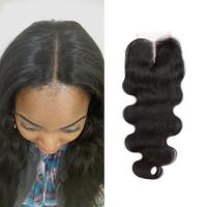 Free Middle 3 Part Lace Top Closure 120% Brazilian Virgin Hair Body Wave Closure