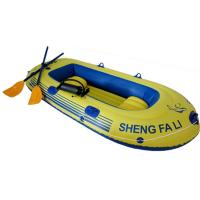 Three Person PVC Inflatable Boat With Oars For Beach CE ISO Manufactures