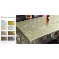 China Brushed metallic table cloth with fabric backing PW224 on sale