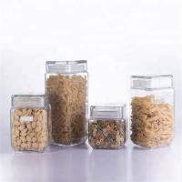China series of antique decorative glass storage jar / storage canister with glass lid food packaging on sale