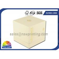 Quality Perfume / Cosmetics Paper Gift Box Rigid Setup Boxes With UV Varnishing for sale