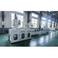 PVC Single Wall Corrugated Pipe Machine Plastic Extrusion Lines With High - Speed Corrugated Pipe Machine Manufactures