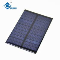 6V 0.6W Strongly solar panel photovoltaic ZW-8055 cheapest transparent Epoxy Resin Solar Panel Manufactures