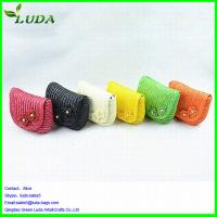 China 2014 hot style crochet wheat straw bags on sale