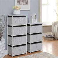 Daily Necessities Bedroom Storage Units , CE Storage Shelving Units With Fabric Drawer Manufactures