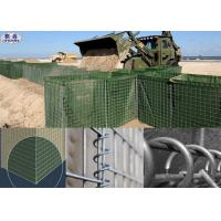 Galvanized Hesco Bastion Wall / Hesco Defensive Barriers Customized Size