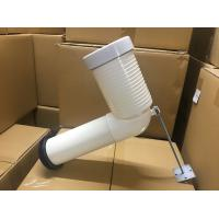 White 90 Degree Toilet Pan Connector No Smell Long Lifespan For Waste Pipe Manufactures