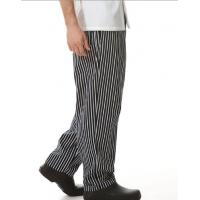China 100% Cotton Windbreak Chef Wear Pants / Quick Dry Kitchen Striped Chef Pants  on sale
