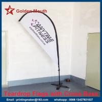 Freestanding Teardrop Banner Flags with Spike Base Manufactures