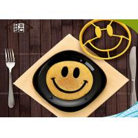 China Breakfast Smiling Face Silicon Egg Ring As Cooking Egg Tools on sale