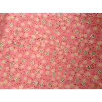 Fluffy Woven Flower Printed Knit Fabric For Bed Sheet ,  Sportswear Manufactures