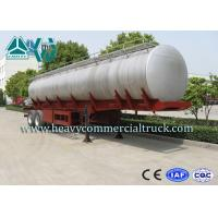 13 Ton Stainless Steel Round Fuel Tank Semi Trailer With Buffer Plates Manufactures