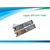 China Copper RJ45 SFP Optical Transceiver , optical fiber transceiver Gigabit Ethernet 10/100/1000M wholesale