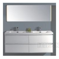 72 Mirror Modern Bathroom Vanity Cabinets Wall Mounted Moistureproof Double Sink for sale