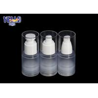 Empty Frosted Airless Pump Bottle , Thick PET 30ml Skincare Serum Bottle Manufactures