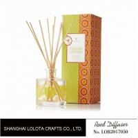 Clear Round Bottle Long Lasting Reed Diffuser , Room Scents Reed Diffuser Manufactures
