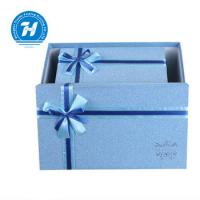 Blue Custom Luxury Gift Packaging Boxes , Wedding Party Favor Boxes Manufactures
