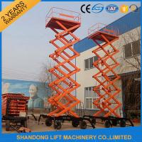 Electric Hydraulic Lift Table , Mobile Aerial Work Lifting Platforms Equipment for Building Cleaning Manufactures