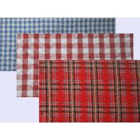 Seersucker Yarn Dyed Custom Cotton Fabric Plaids and Stripes Elastic Crepe Fabric Manufactures