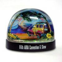 DIY Snow Globe, Made of Acrylic, Available in 45 and 60 to 80mm Diameters Manufactures