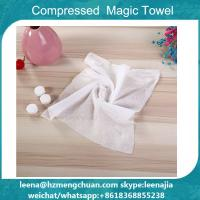 China white small coin magic towe compressed towel on sale