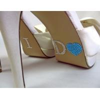 Blue acrylic rhinestone I DO wedding bridal Shoes rhinestone sticker Manufactures