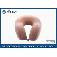 Molded Memory Foam Travel Neck Pillow For Car / Reading , U Shaped Travel Pillow Manufactures